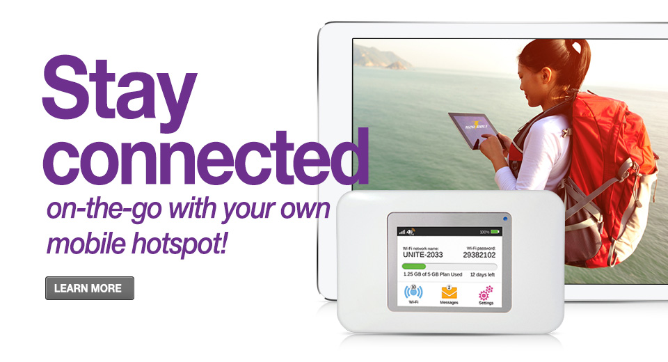 Stay Connected On The Go With Your Own Mobile Hotspot