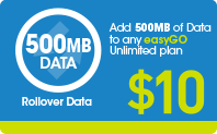 DATA Top Up 500MB