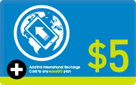 International Recharge $5