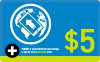 International Recharge $5