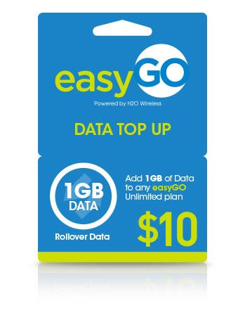 easyGo Data Card $10